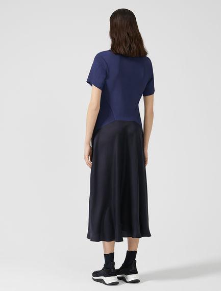 Silk Tulle & Knit Dress