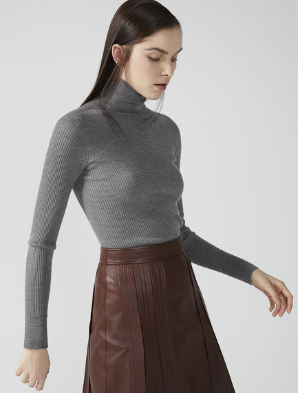 Fine Ribbed Roll Neck Sweater Sportmax