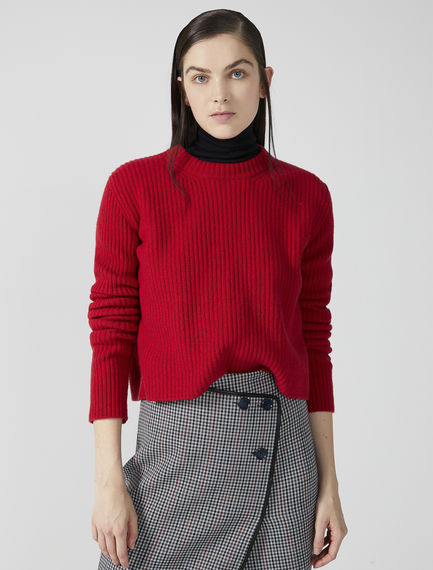Ribbed Wool Crew Neck Sweater Sportmax