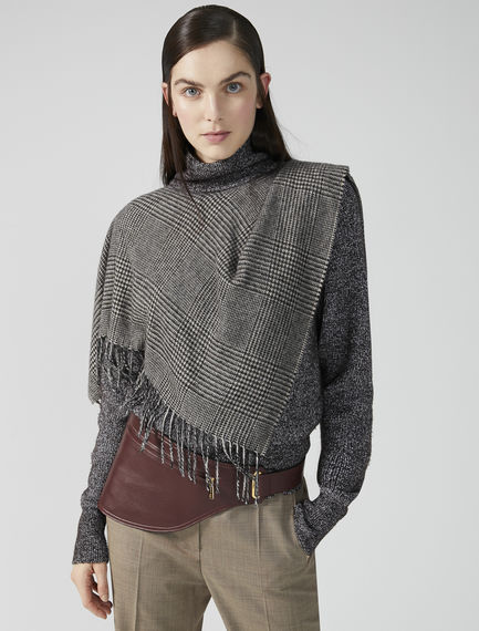Layered Scarf Roll Neck Sweater Sportmax
