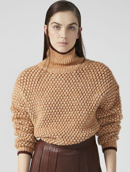 Textured Roll Neck Sweater Sportmax