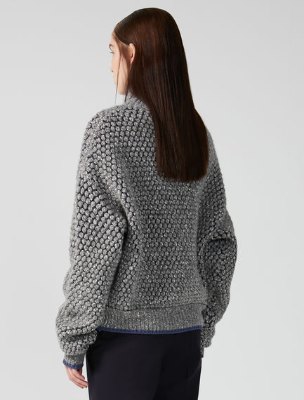 Textured Roll Neck Sweater