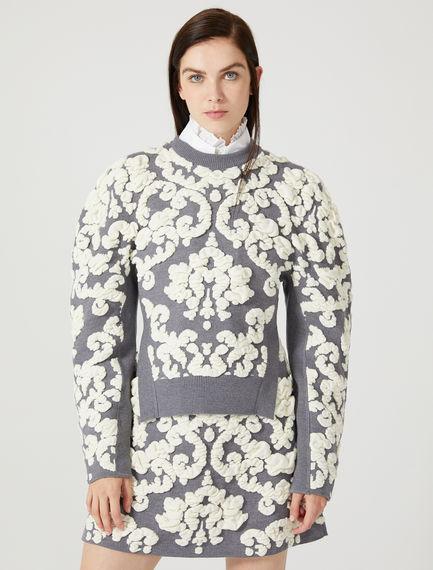 Kimono Sleeve Jacquard Sweater Sportmax