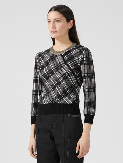 Jacquard Knit Check Sweater Sportmax