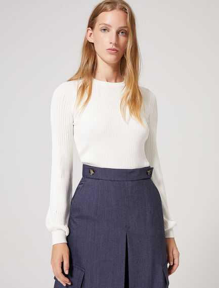 Structured Sleeve Viscose Sweater Sportmax
