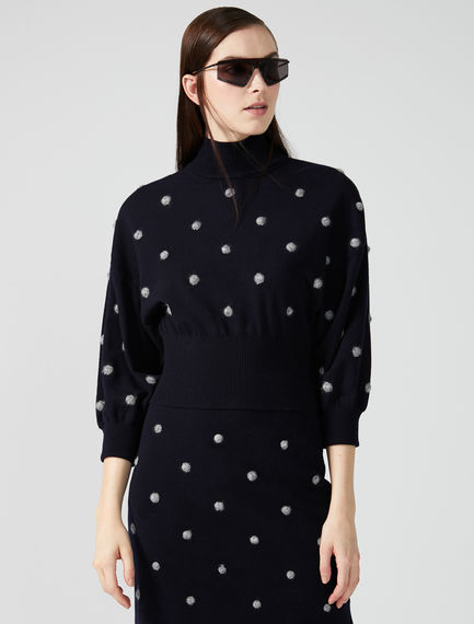 Balloon Sleeve Dot Sweater Sportmax