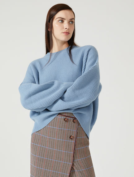 Wool Cashmere Balloon Sleeve Sweater Sportmax