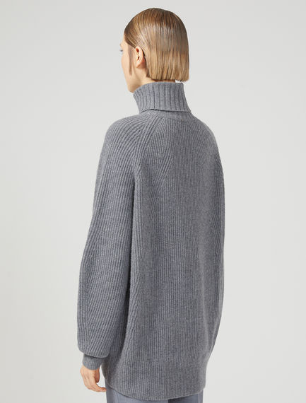 Relaxed Cashmere Blend Roll Neck Sweater