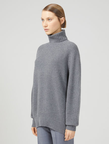 Relaxed Cashmere Blend Roll Neck Sweater Sportmax