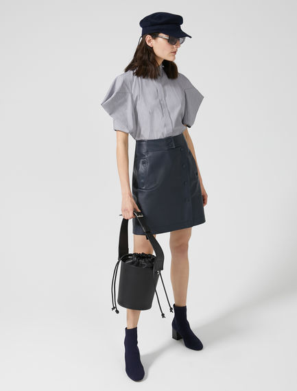 Nappa Leather Wrap Skirt
