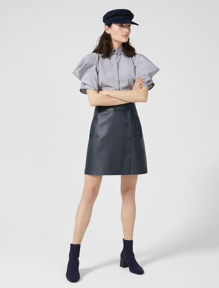 Nappa Leather Wrap Skirt Sportmax