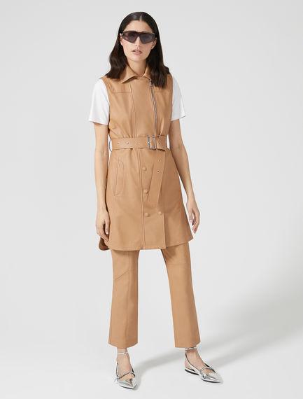 Belted Nappa Minidress