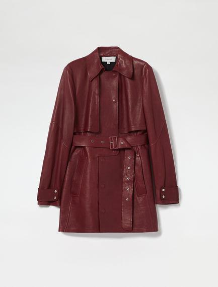 Nappa Leather Mini Trench Coat