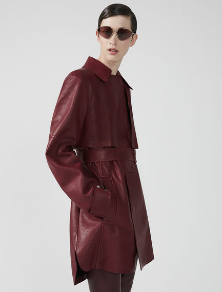 Nappa Leather Mini Trench Coat Sportmax