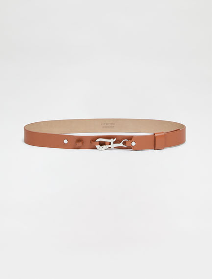 Hooked Nappa Leather Belt Sportmax