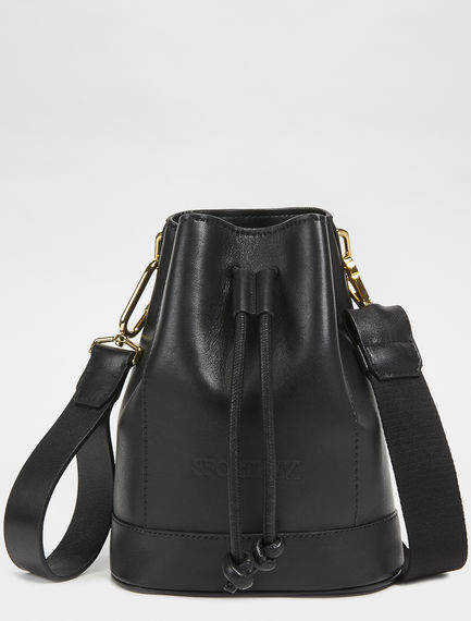 Nappa Leather Mini Bucket Bag Sportmax