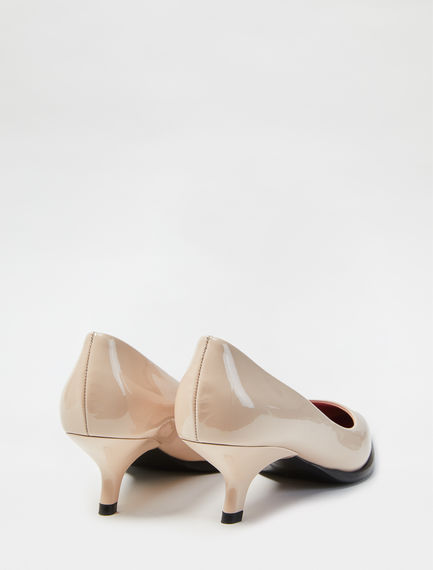 Sculpted Heel Patent Stilettos