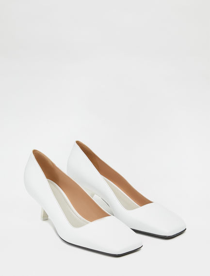 Square Toe Calfskin Stilettos