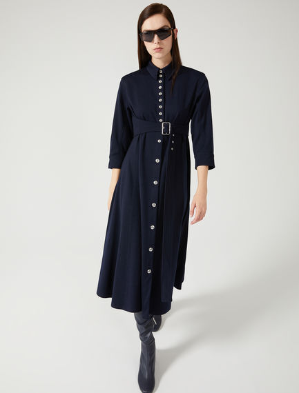 Balloon Sleeve Jersey Shirtdress