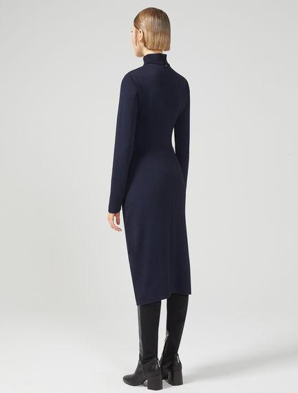 Asymmetric Sculpted Jersey Dress