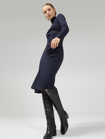 Asymmetric Sculpted Jersey Dress Sportmax