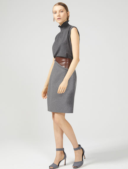 A-line leather effect & Wool Skirt Sportmax