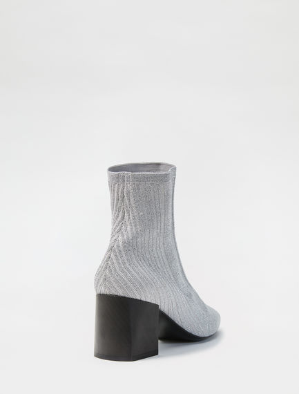 Lurex Knitted Ankle Boot