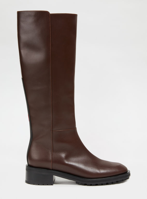 Knee-high Leather Boots Sportmax