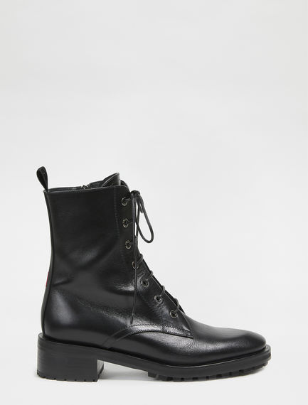 Lace-up Leather Boots Sportmax