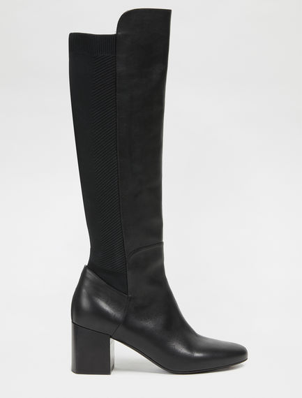 Equestrian Long Leather Boots Sportmax