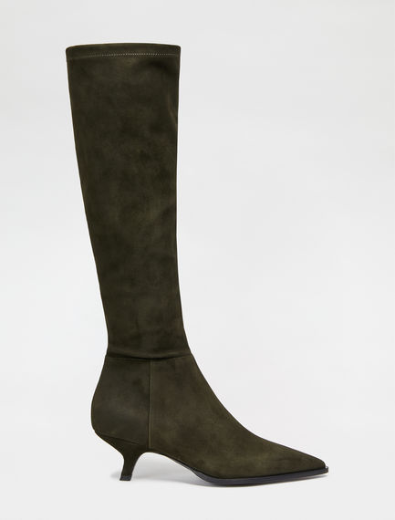 Suede Knee High Boots Sportmax