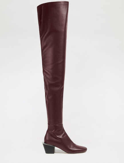 Eco Leather Over-the-knee Boots Sportmax