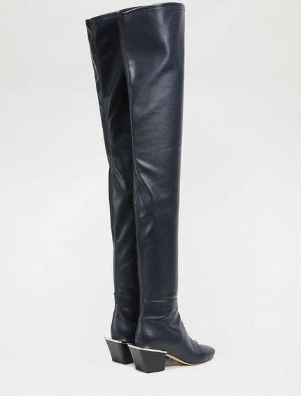 Leather effect Over-the-knee Boots