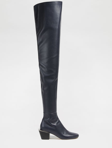 Leather effect Over-the-knee Boots Sportmax