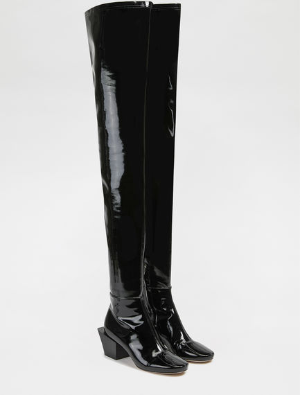 Patent Eco Leather Over-the-knee Boots Sportmax