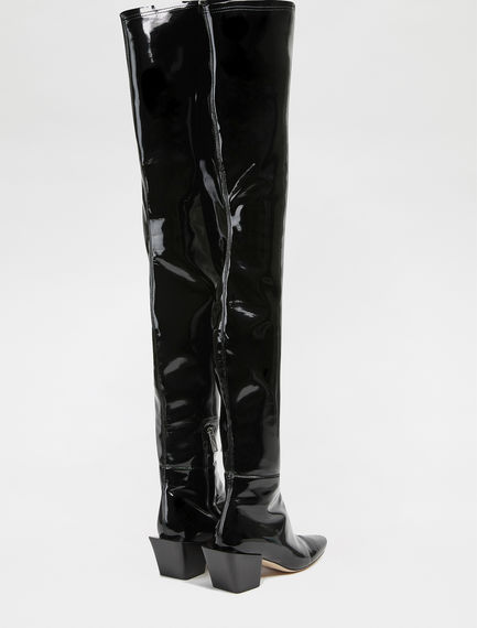 Patent Eco Leather Over-the-knee Boots