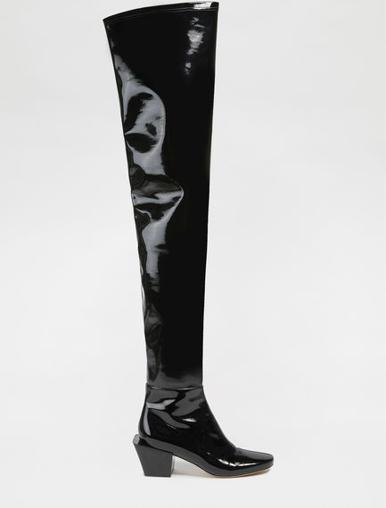 Patent leather effect Over-the-knee Boots Sportmax