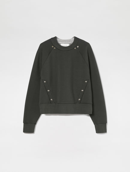 Metal Detail Neoprene Sweatshirt