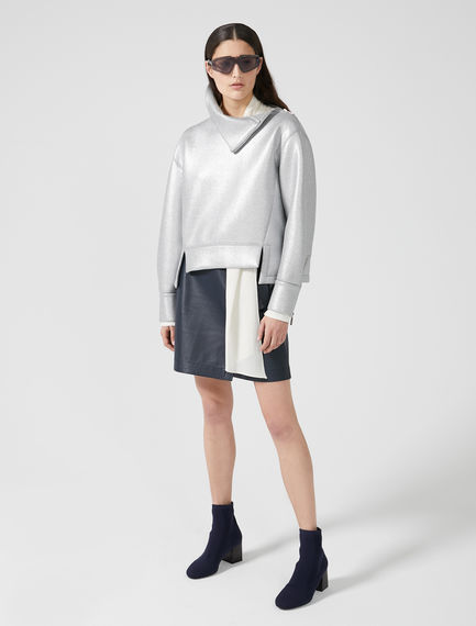 Metallic Neoprene Sweatshirt