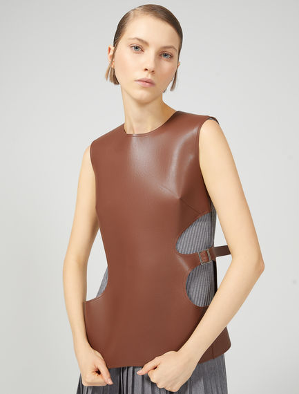 Sleeveless Leather effect Top Sportmax