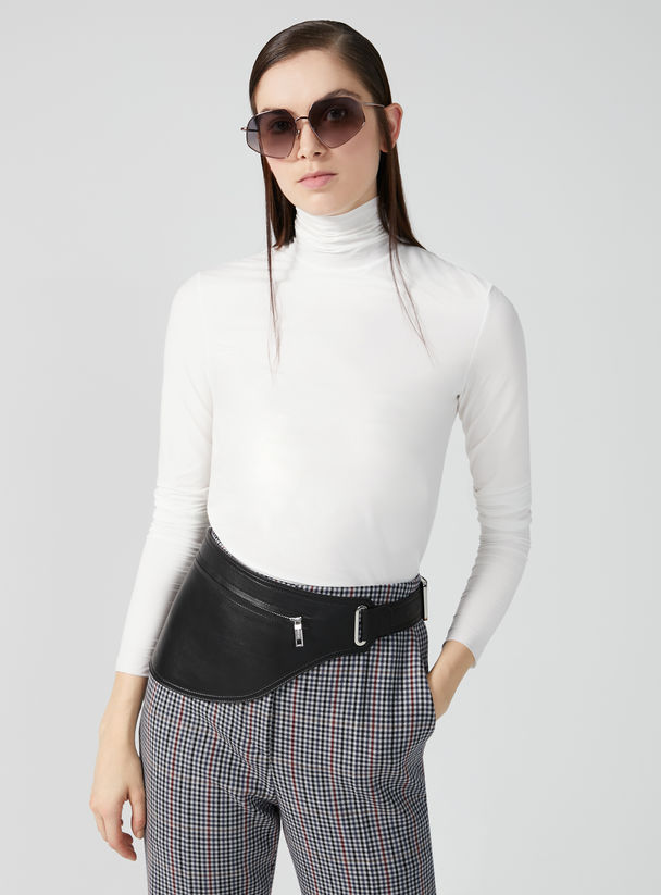 Double Jersey Roll Neck Top Sportmax