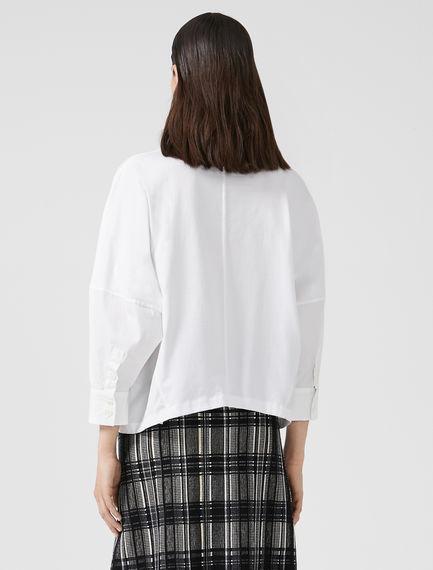 Drawstring Poplin T-Shirt