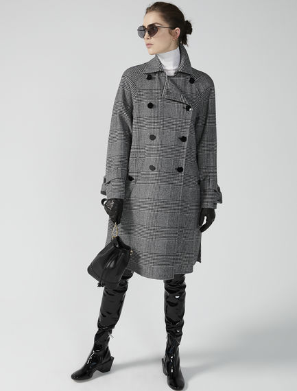 Prince of Wales Check Trapeze Coat Sportmax