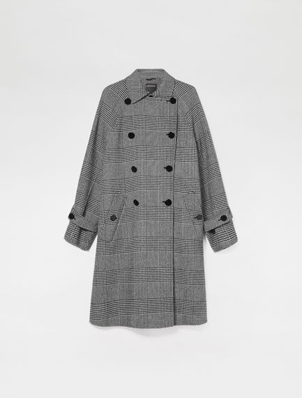 Prince of Wales Check Trapeze Coat