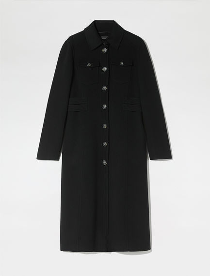 Double Wool Military Coat