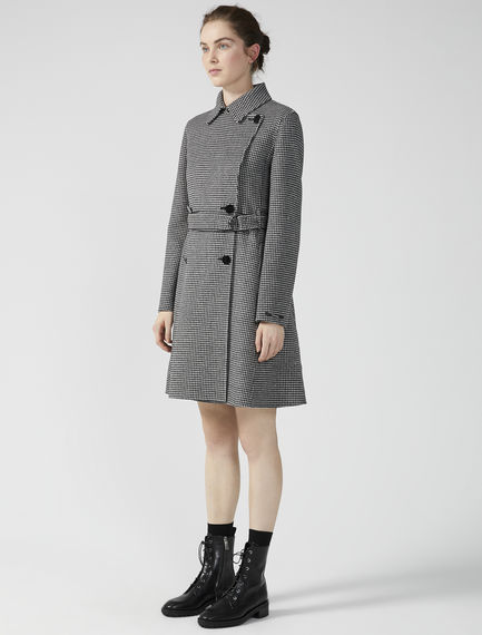 Tailored Houndstooth Trench Coat Sportmax