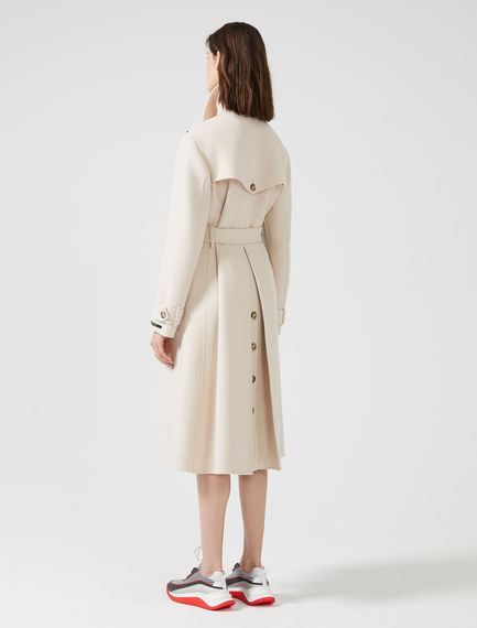Double Wool Trench Coat