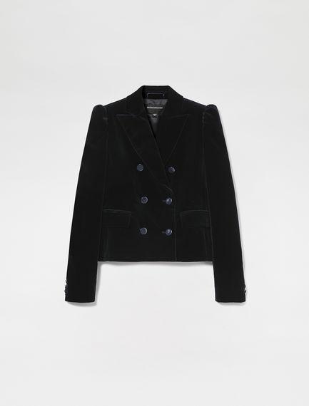 Sculptured Velvet Tux Jacket