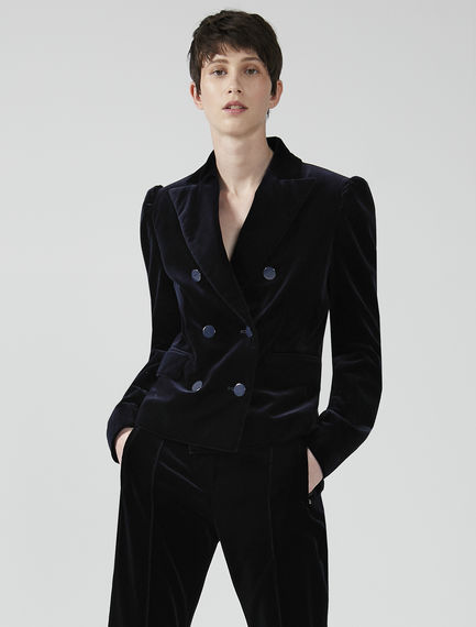 Sculptured Velvet Tux Jacket Sportmax