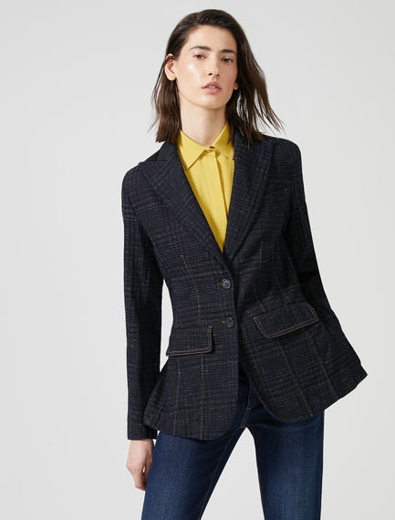 Jacquard Tailored Denim Jacket Sportmax